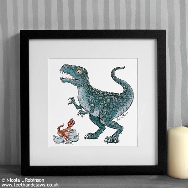 Dinosaur Dad Print © Nicola L Robinson www.teethandclaws.co.uk