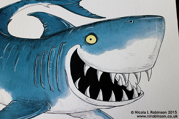 shark illustration © Nicola L Robinson All rights reserved www.teethandclaws.co.uk